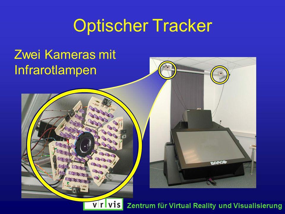 Zentrum für Virtual Reality und Visualisierung Optischer Tracker Zwei Kameras mit Infrarotlampen