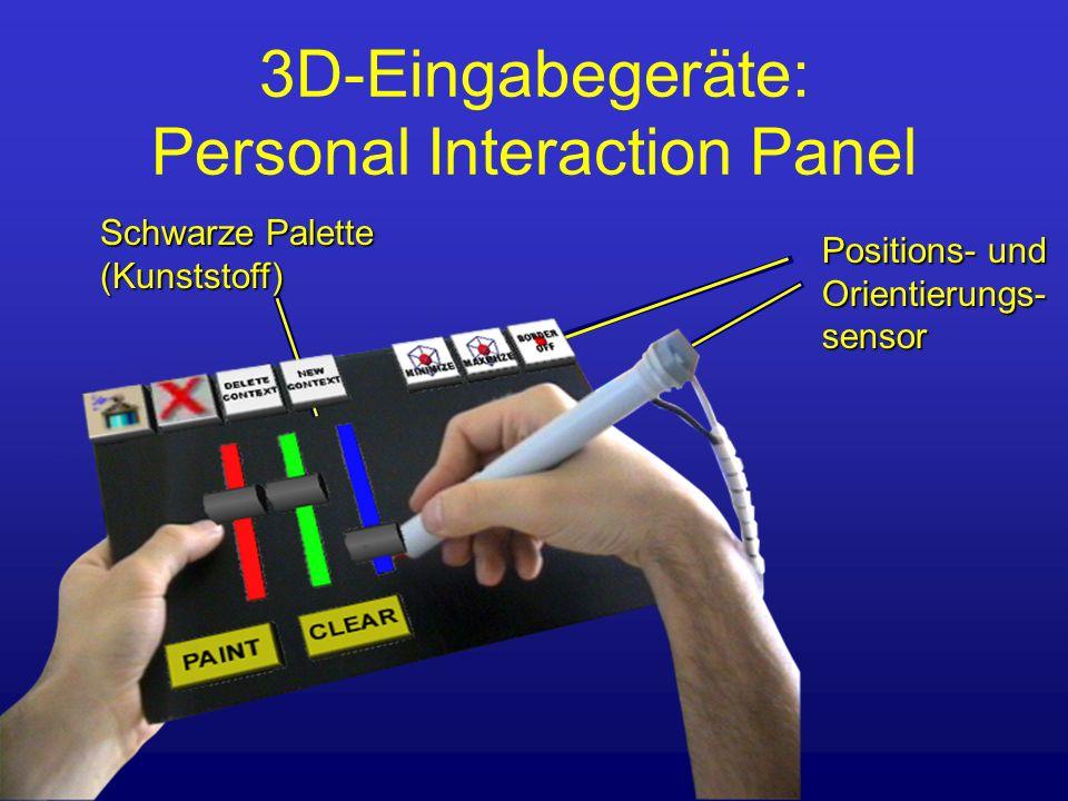 Positions- und Orientierungs-sensor 3D-Eingabegeräte: Personal Interaction Panel Schwarze Palette (Kunststoff)
