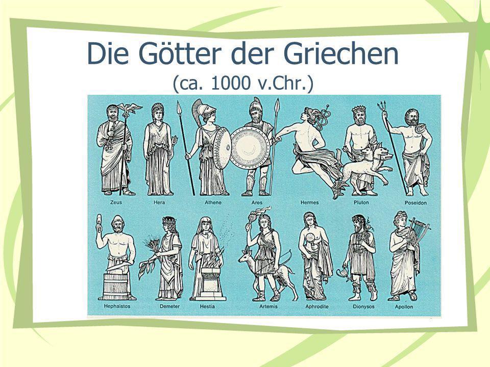 Die Götter der Griechen (ca. 1000 v.Chr.)