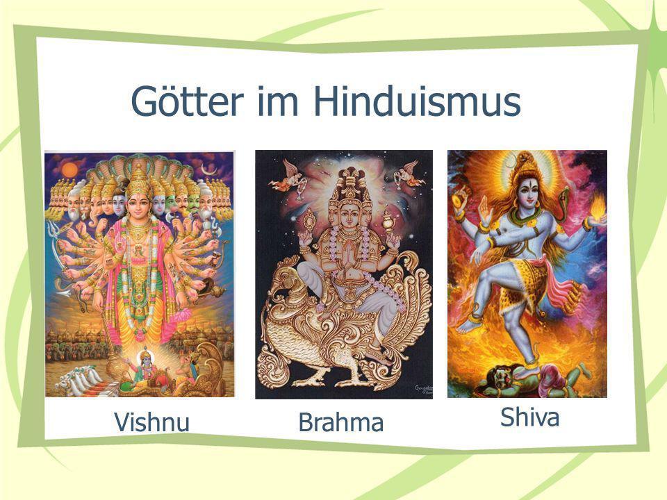Götter im Hinduismus BrahmaVishnu Shiva