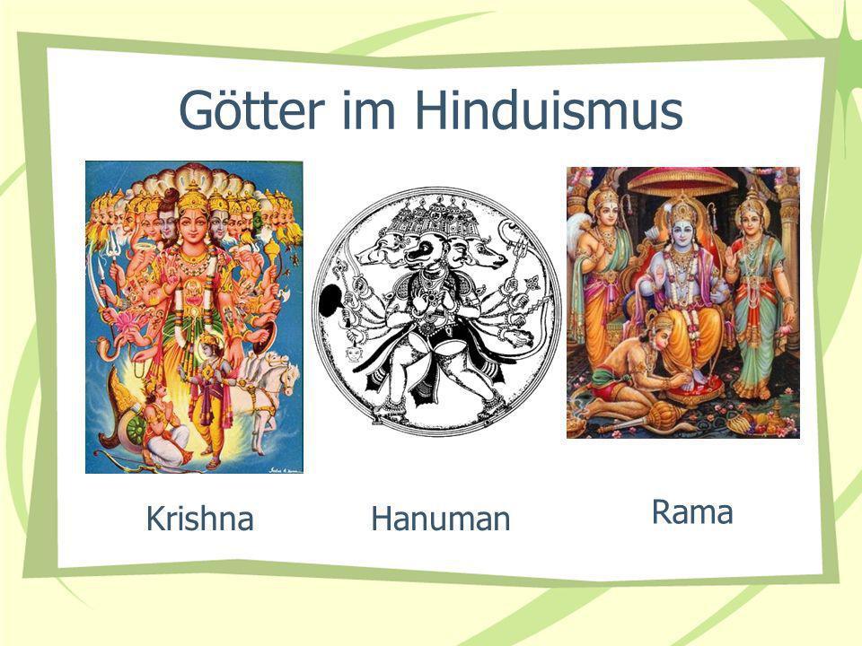 Götter im Hinduismus Rama KrishnaHanuman