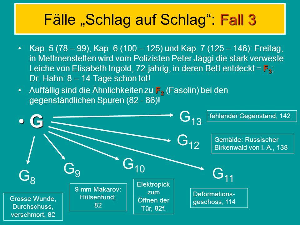 Gegenständliche Spuren G props red herrings clues blinds (blind alleys) Für D bedeutungslos, weil Kulisse bzw.