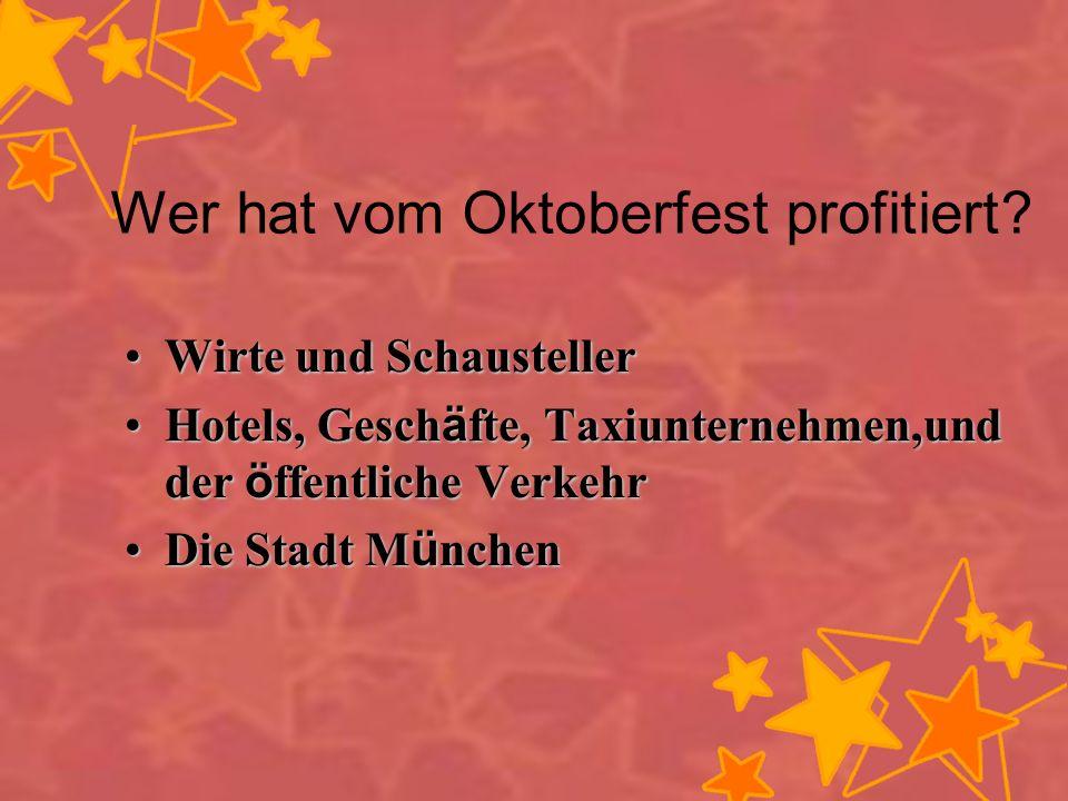 Laut Oberb ü rgermeister Christian Ude,warum wird nur Bier der M ü nchner Brauereien auf der Wiesn ausgeschenkt.