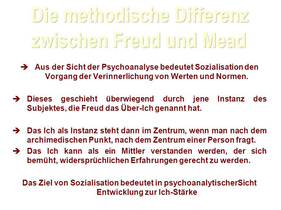 Aus der Sicht der Psychoanalyse bedeutet Sozialisation den Vorgang der Verinnerlichung von Werten und Normen.