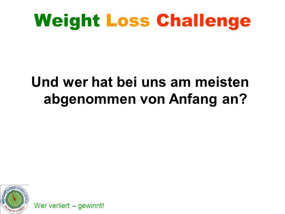 Wer verliert – gewinnt! Weight Loss Challenge Und wer hat bei uns am meisten abgenommen von Anfang an?