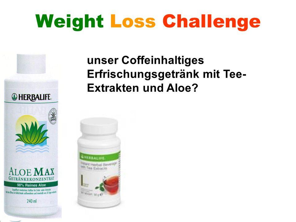 Wer verliert – gewinnt! Weight Loss Challenge unser Coffeinhaltiges Erfrischungsgetränk mit Tee- Extrakten und Aloe?