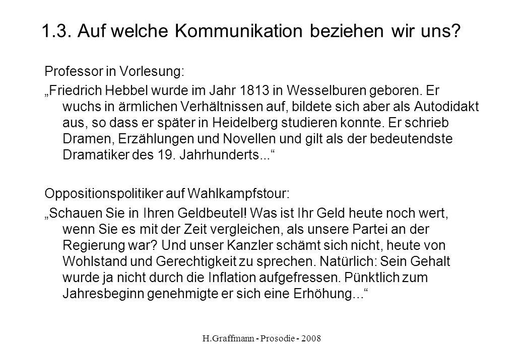 H.Graffmann - Prosodie - 2008 1.2.3. Unsere Stimme Anfangstext aus Die Feuerprobe von Salim Alafenisch - 2007 Zwei Wadis durchziehen unser Stammesgebi