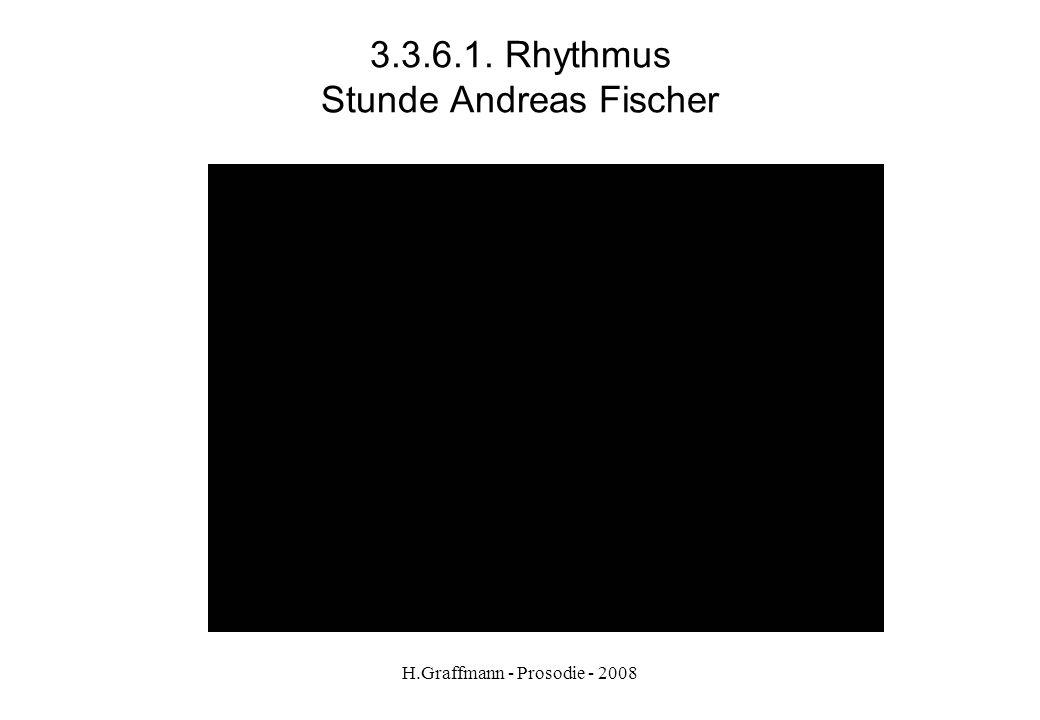 H.Graffmann - Prosodie - 2008 3.3.5. Rhythmus der Wörter Stunde Andreas Fischer