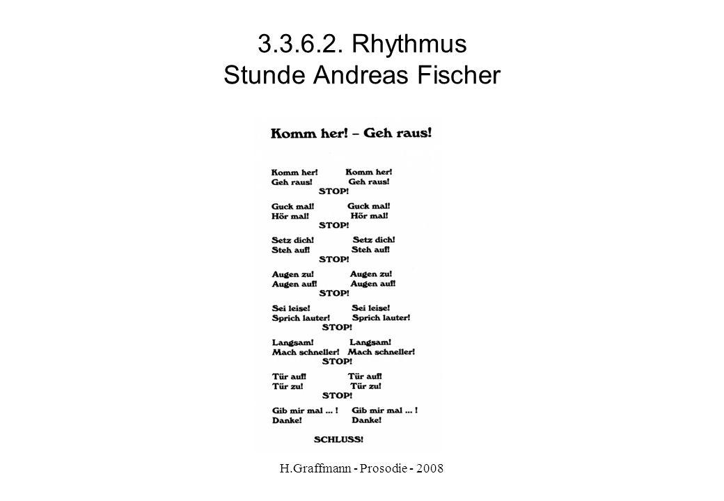 H.Graffmann - Prosodie - 2008 3.3.6.1. Rhythmus Stunde Andreas Fischer
