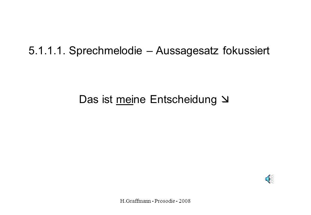 H.Graffmann - Prosodie - 2008 5.1.1. Sprechmelodie - Aussagesatz