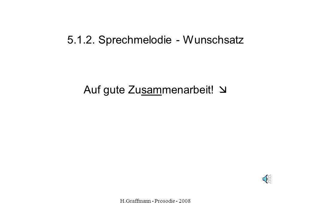 H.Graffmann - Prosodie - 2008 5.1.1.1. Sprechmelodie – Aussagesatz fokussiert