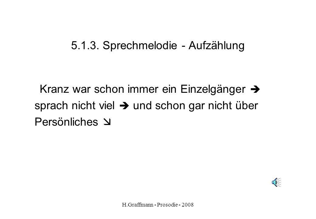 H.Graffmann - Prosodie - 2008 5.1.2. Sprechmelodie - Wunschsatz