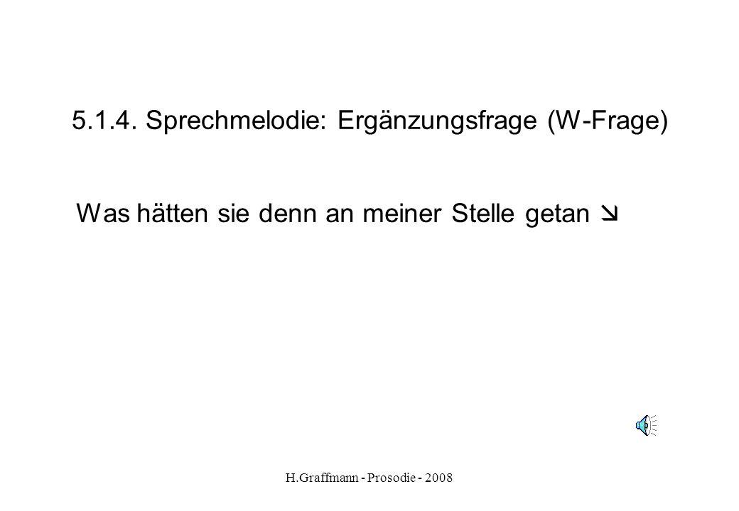 H.Graffmann - Prosodie - 2008 5.1.2. Sprechmelodie - Aufzählung