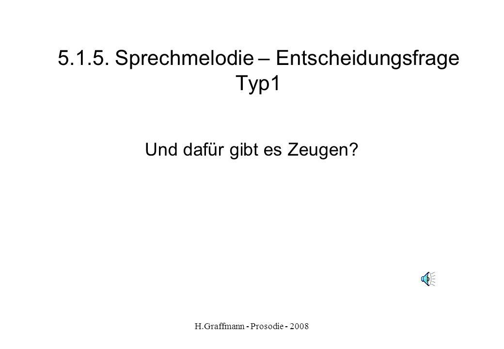 H.Graffmann - Prosodie - 2008 5.1.4. Sprechmelodie: Ergänzungsfrage (W- Frage)