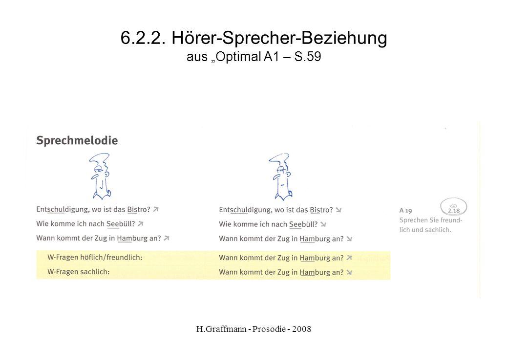 H.Graffmann - Prosodie - 2008 6.2.1. Hörer-Sprecher-Beziehung -Worin besteht der Unterschied zwischen Satz 1 und Satz 2 -In welcher Situation ist Must