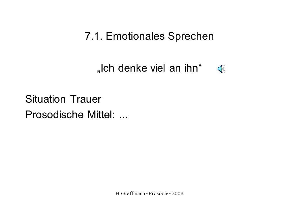 H.Graffmann - Prosodie - 2008 6.4. Hörer-Sprecher-Beziehung Zusammenfassung zu Hörer-Sprecher-Beziehung HauptakzentEndsilbe Anknüpfen an Vorheriges ti