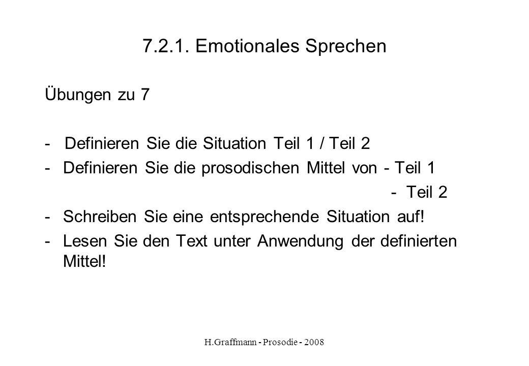 H.Graffmann - Prosodie - 2008 7.2. Emotionales Sprechen aus Lehrwerk Keine Panik