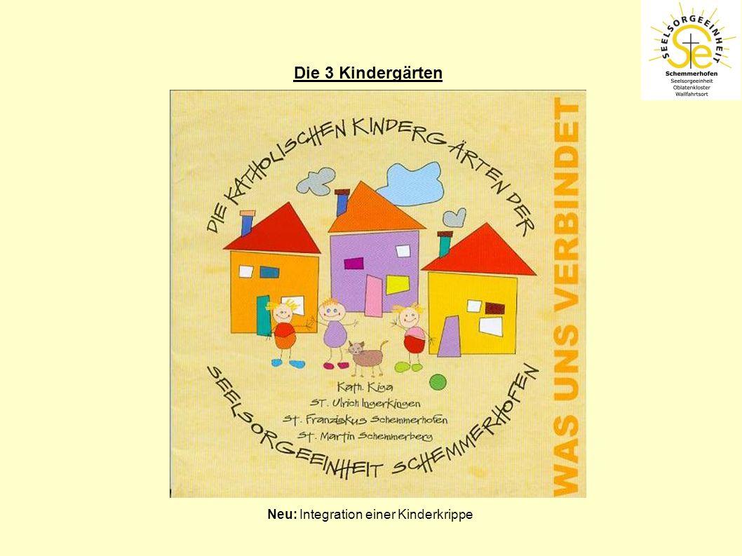Die 3 Kindergärten Neu: Integration einer Kinderkrippe