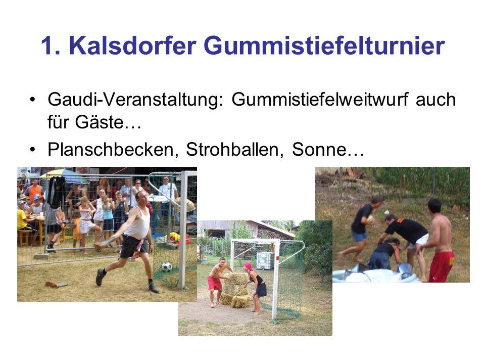 1. Kalsdorfer Gummistiefelturnier Gaudi-Veranstaltung: Gummistiefelweitwurf auch für Gäste… Planschbecken, Strohballen, Sonne…
