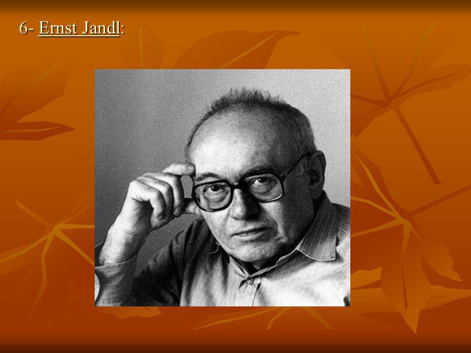 6- Ernst Jandl: Ernst JandlErnst Jandl