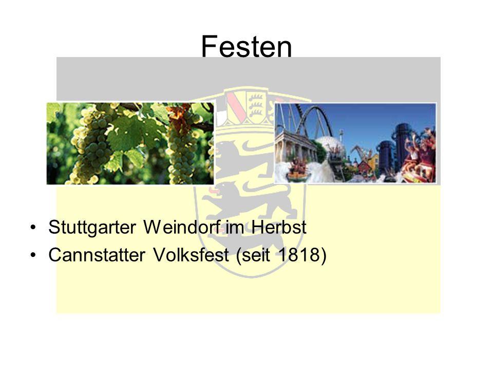 Festen Stuttgarter Weindorf im Herbst Cannstatter Volksfest (seit 1818)