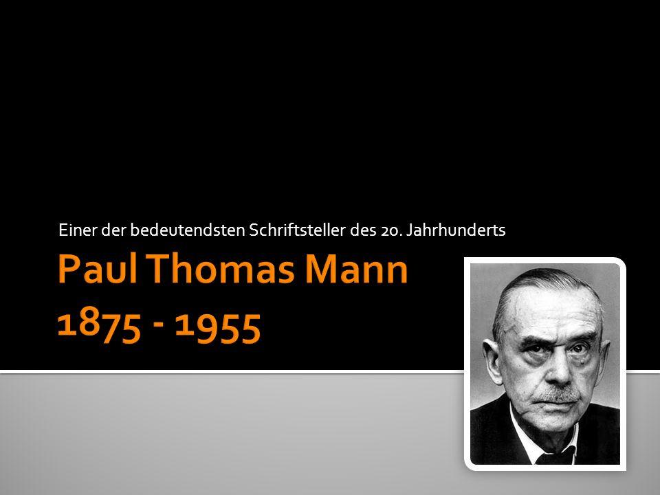 Einer der bedeutendsten Schriftsteller des 20. Jahrhunderts
