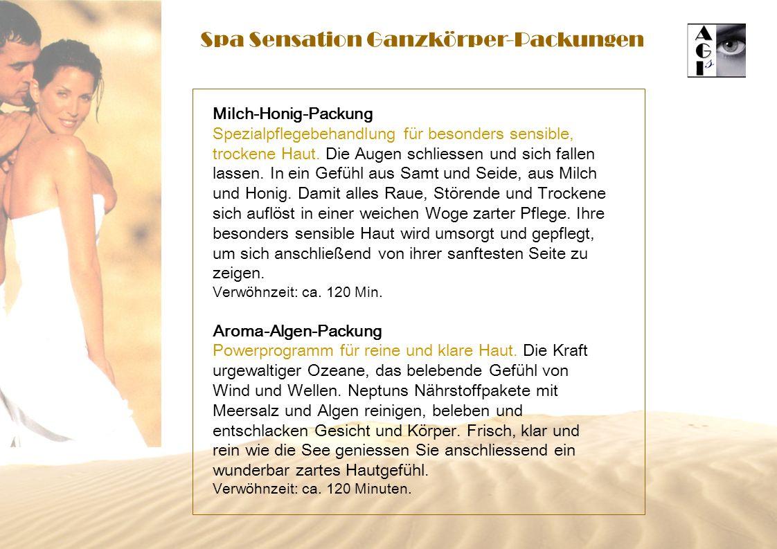 Spa Sensation Ganzkörper-Packungen Milch-Honig-Packung Spezialpflegebehandlung für besonders sensible, trockene Haut.