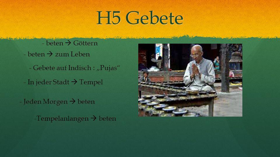 H5 Gebete - beten Göttern - beten zum Leben -Tempelanlangen beten - Gebete auf Indisch : Pujas - In jeder Stadt Tempel - Jeden Morgen beten