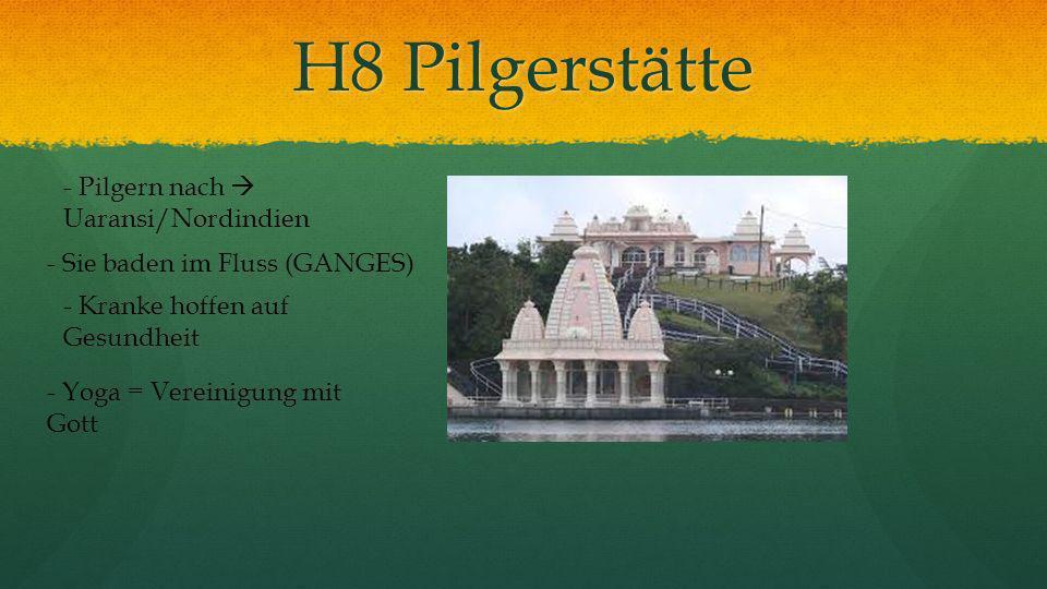 H8 Pilgerstätte - Pilgern nach Uaransi/Nordindien - Sie baden im Fluss (GANGES) - Kranke hoffen auf Gesundheit - Yoga = Vereinigung mit Gott