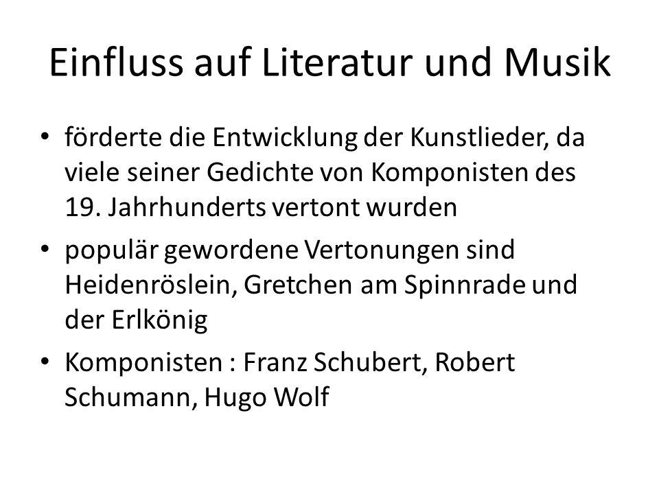 Werke Goethe hat begonnene Dichtungen oft jahrelang, manchmal jahrzehntelang liegen gelassen und erst nach langer Zeit in den Druck gegeben 1797: Faust, der Tragödie erster Teil geschrieben und 1808 veröffentlicht Das Leiden des jungen Werthers, 1.