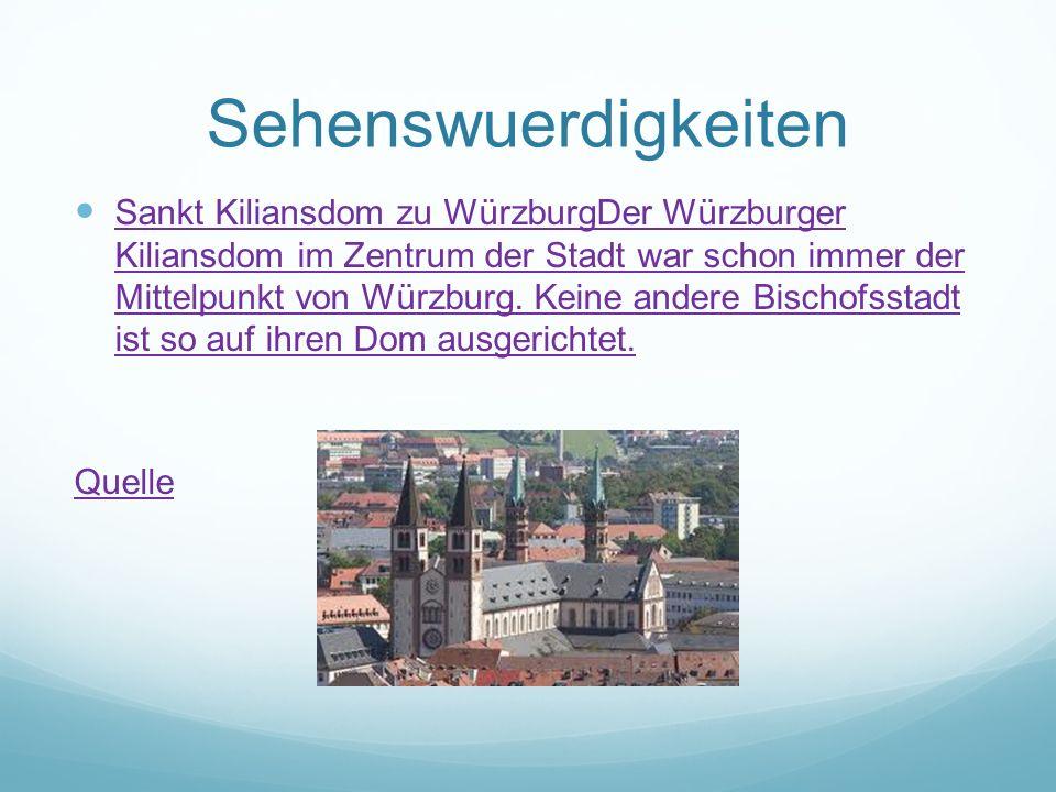 Sehenswuerdigkeiten Sankt Kiliansdom zu WürzburgDer Würzburger Kiliansdom im Zentrum der Stadt war schon immer der Mittelpunkt von Würzburg. Keine and