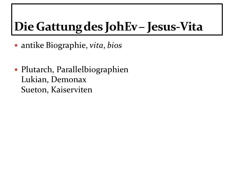 antike Biographie, vita, bios Plutarch, Parallelbiographien Lukian, Demonax Sueton, Kaiserviten
