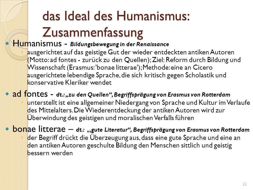1.6 humanistische Frömmigkeit: Reform durch Lektüre der Quellen Der ist mir ein wahrer Theologe, der nicht mit künstlich zusammen gedrechselten Syllog