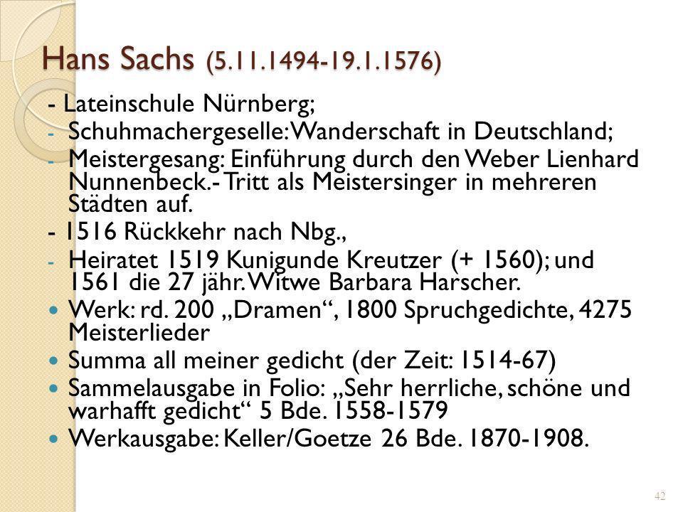 41 1545 HANS SACHSN ALTER 51 IAR Holzschnitt des Michael Ostendorfer (1490-1559)
