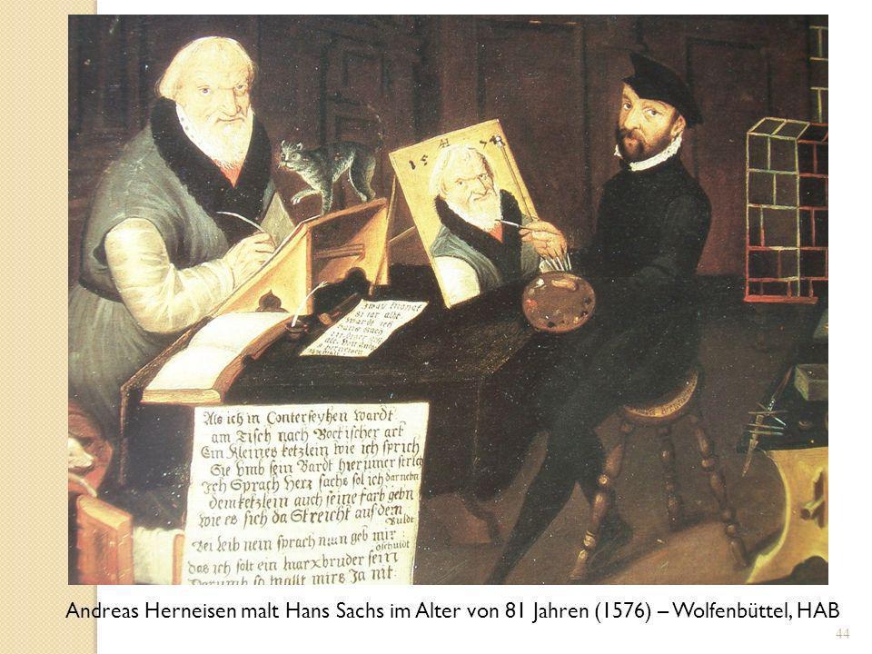 43 Hans Sachs, Tristan-Meisterlieder In des poppen langen thon.