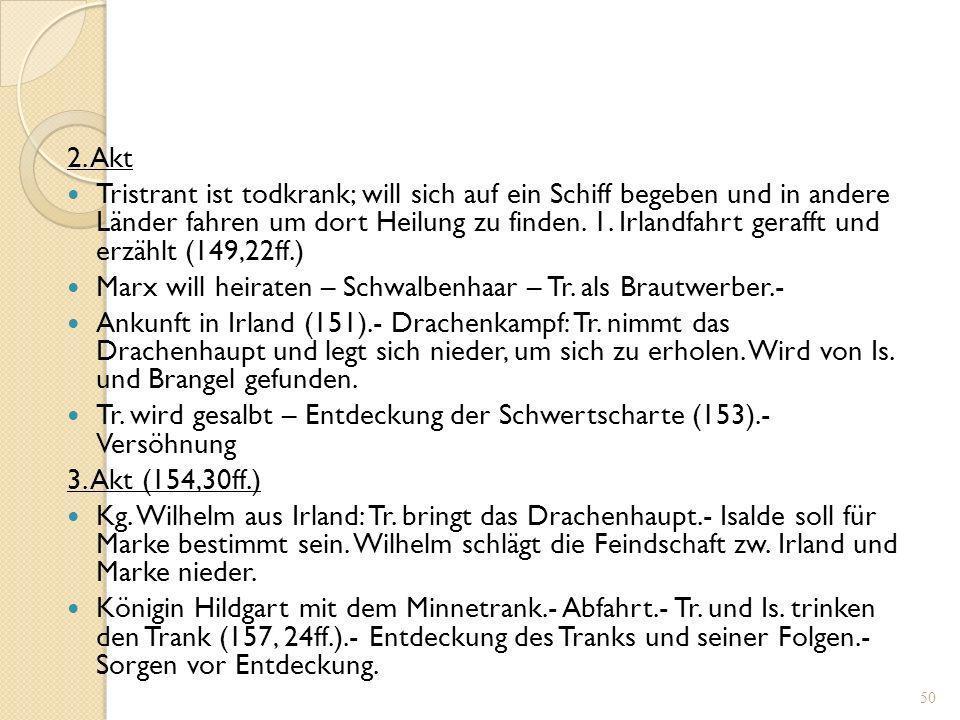 49 Hans Sachs, Tragedi (Text: Hans Sachs, hg. v. Keller/Goetze, Bd. 12, S. 142-186) Tragedia mit 23 personen, von der strengen lieb herr Tristrant mit