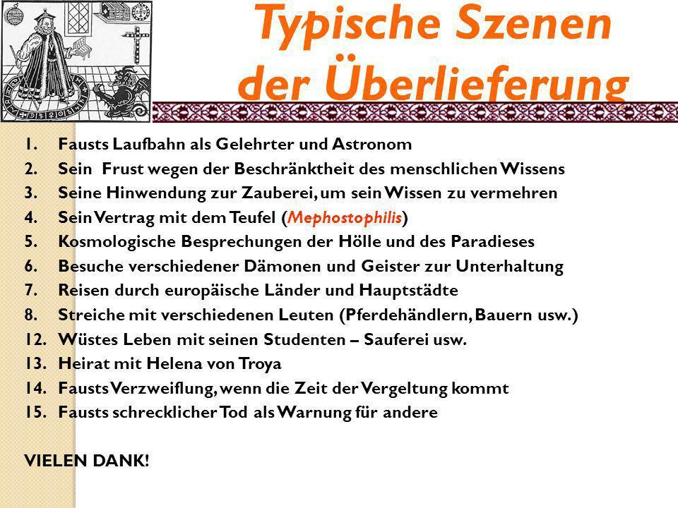 Die Faust-Legende Vertrag mit dem Teufel.