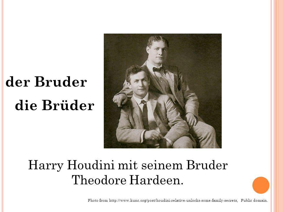der Bruder die Brüder Harry Houdini mit seinem Bruder Theodore Hardeen.