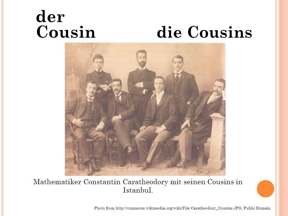 der Cousin die Cousins Mathematiker Constantin Caratheodory mit seinen Cousins in Istanbul. Photo from http://commons.wikimedia.org/wiki/File:Caratheo