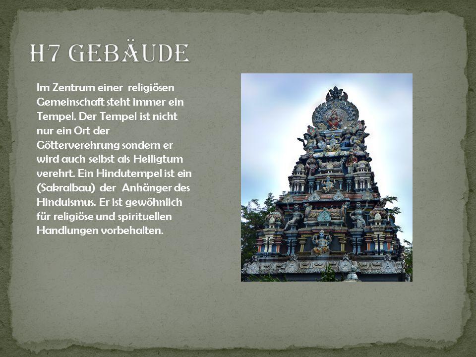 Im Zentrum einer religiösen Gemeinschaft steht immer ein Tempel. Der Tempel ist nicht nur ein Ort der Götterverehrung sondern er wird auch selbst als