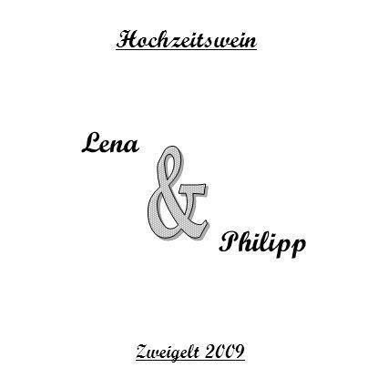 Lena Philipp Hochzeitswein Zweigelt 2009