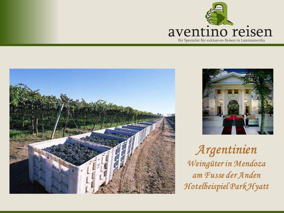 Argentinien Weingüter in Mendoza am Fusse der Anden Hotelbeispiel Park Hyatt
