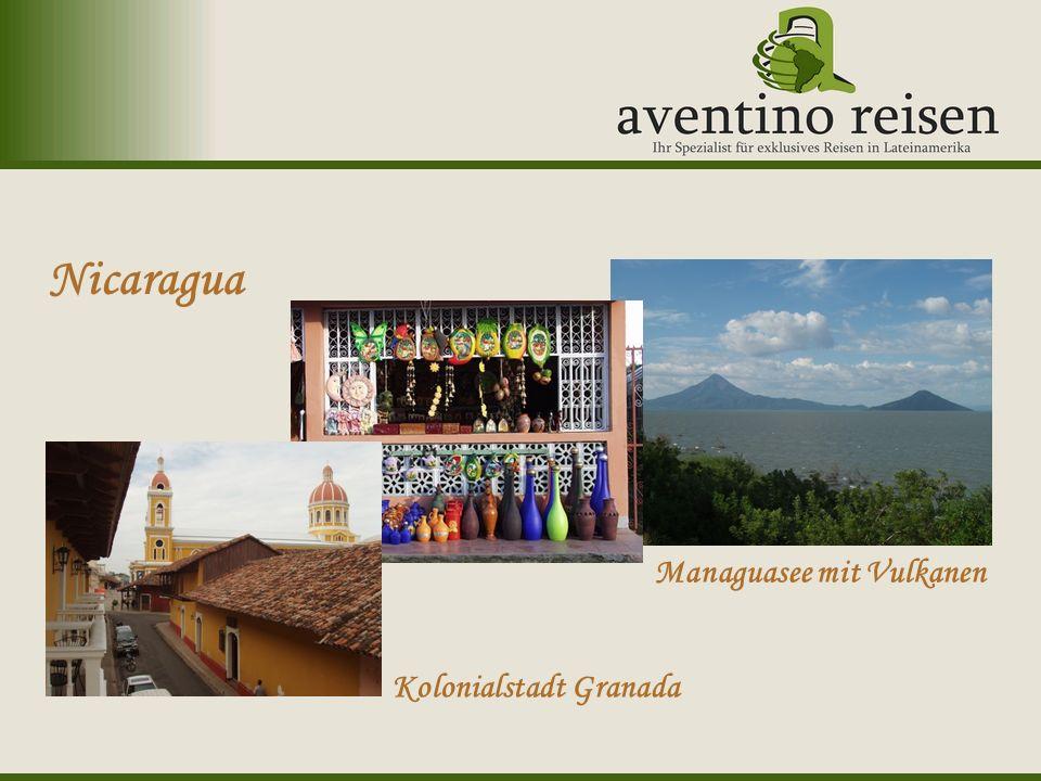 Uruguay: Karneval Nicaragua Kolonialstadt Granada Managuasee mit Vulkanen