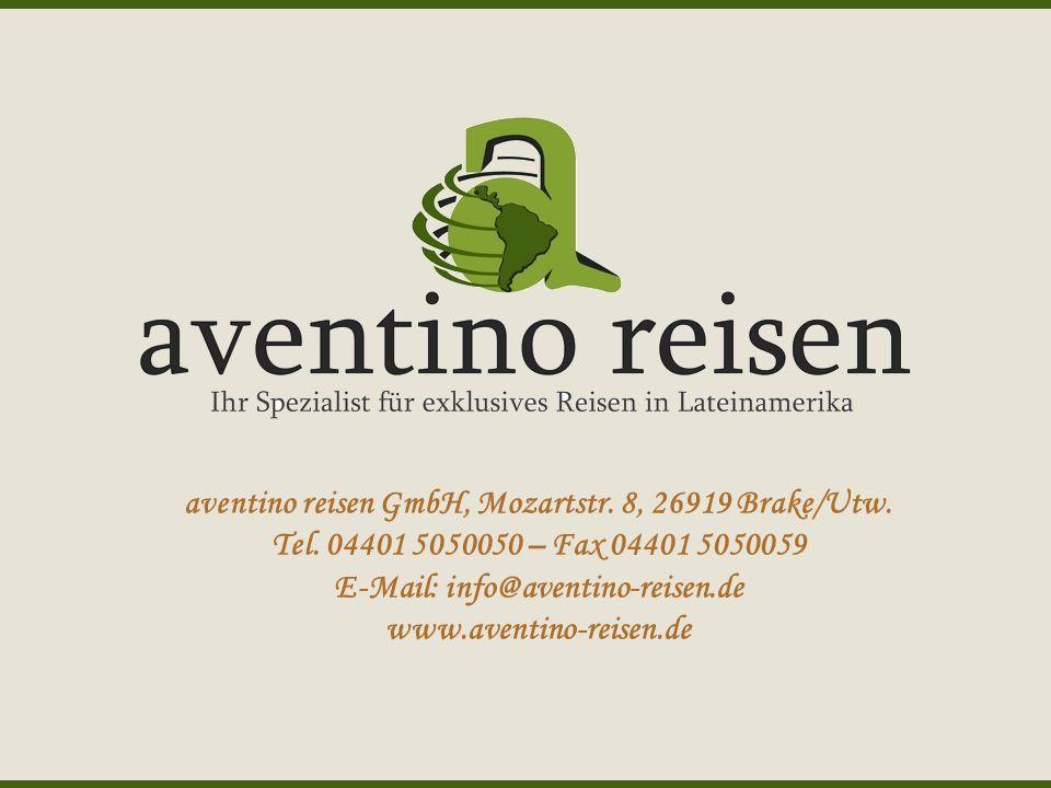 aventino reisen GmbH, Mozartstr. 8, 26919 Brake/Utw.