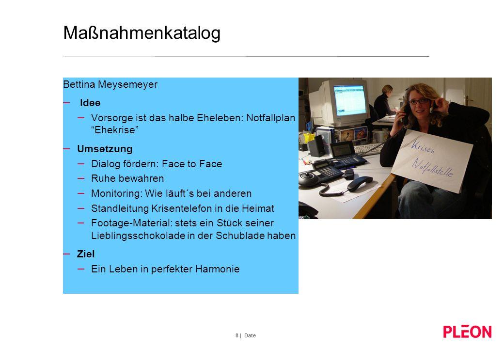 8 | Date Maßnahmenkatalog Bettina Meysemeyer – Idee – Vorsorge ist das halbe Eheleben: Notfallplan Ehekrise – Umsetzung – Dialog fördern: Face to Face