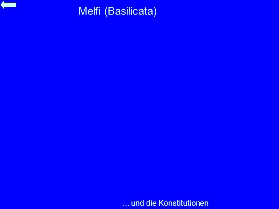 Melfi (Basilicata)... und die Konstitutionen
