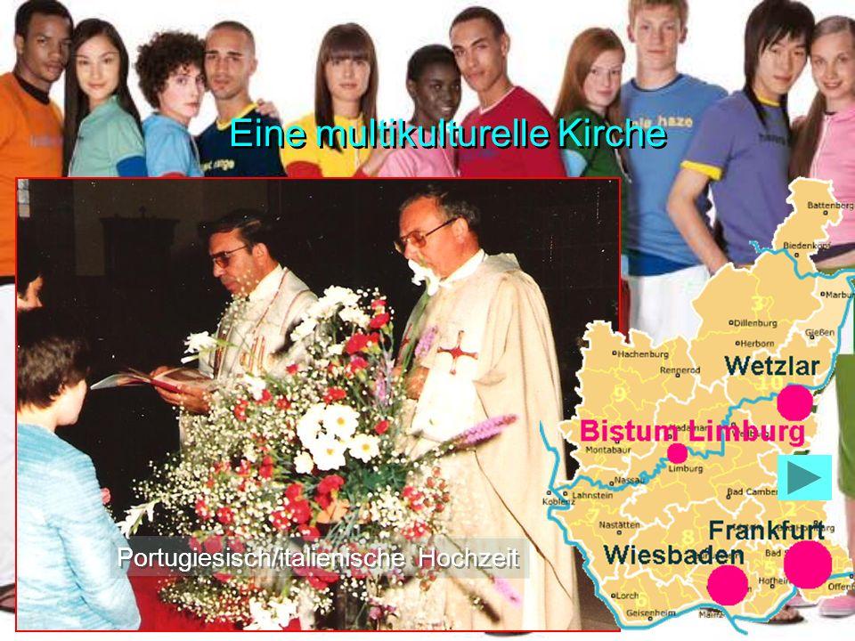 Eine multikulturelle Kirche Portugiesisch/italienische Hochzeit
