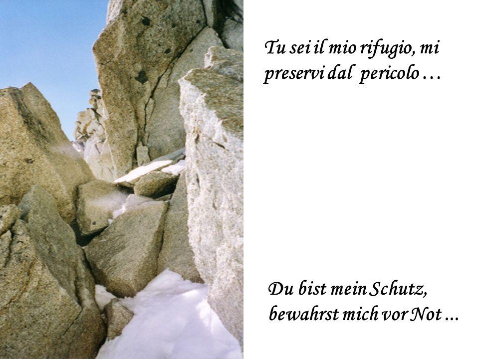 Tu sei il mio rifugio, mi preservi dal pericolo … Du bist mein Schutz, bewahrst mich vor Not...