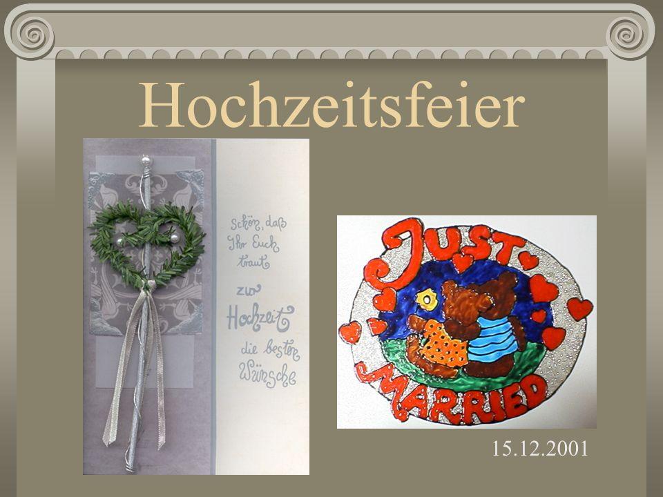 Lebenspartnerschaft 5. Dezember 2001 12:00 Ja, ich will!