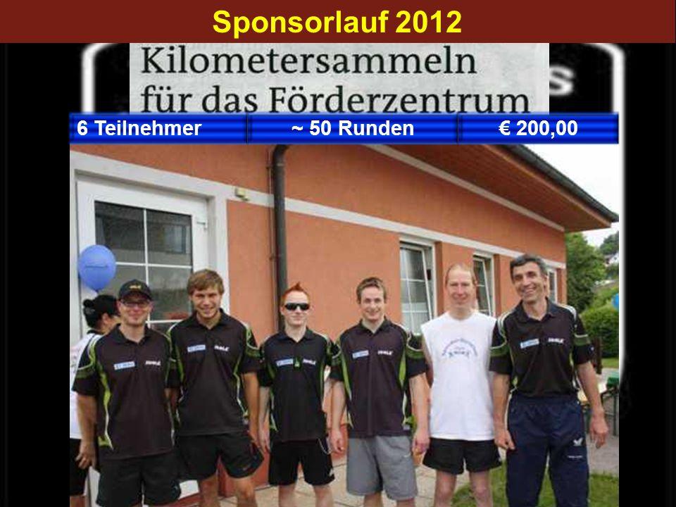 200,00~ 50 Runden6 Teilnehmer Sponsorlauf 2012